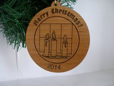 Personalized Merry Christmas 2014 ornament by MLSLaserEngraving, $20.00