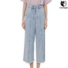28.99$  Watch now - https://alitems.com/g/1e8d114494b01f4c715516525dc3e8/?i=5&ulp=https%3A%2F%2Fwww.aliexpress.com%2Fitem%2FHUOX-Fresh-Light-Color-Denim-Women-Pants-Fashion-High-Waist-Rough-Selvedge-Jeans-Female-Wearing-White%2F32708628115.html - HUOX Fresh Light Color High Waist Denim Women Pants Fashion Rough Selvedge Jeans Female Wearing White Calf-Length Pants