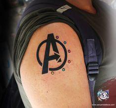 Hello Avengers! Coolest Tattoo ever for all Avenger lovers!! Tag your Avenger Friend! Avengers #friendsforever #Aaryans #india
