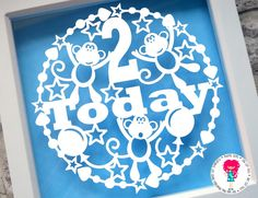 2 Today, Monkey Paper Cut Template, SVG Cutting File For Cricut / Silhouette & PDF Hand Cutting Printable. Digital Download by DigitalGems on Etsy
