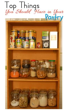 The Homesteader's Pantry - the must-have list you should always have in stock!