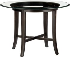 "Halo Ebony Dining Table with 42"" Glass Top in Dining Tables 