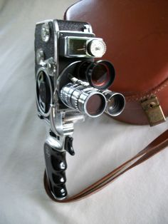 Vintage Bolex Paillard Camera 3 Lense and Case. $250.00, via Etsy.