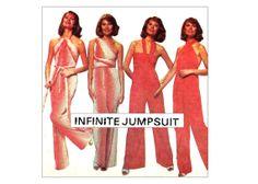 Disco 70s Multi Wrap Infinite Jumpsuit by MaddieModPatterns, $44.95
