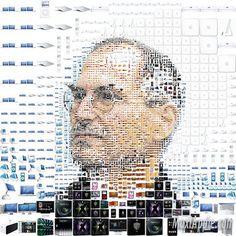 #Apple Mosaic portrait of Steve Jobs by Charis Tsevis.