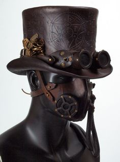 Steampunk Leather Tophat by Valimaa on deviantART