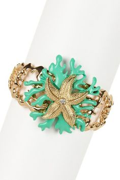 Monique Leshman Under The Sea Stretch Bracelet in Turquoise - Beyond the Rack