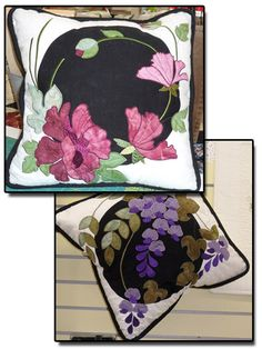 Embroidered Applique Pillows