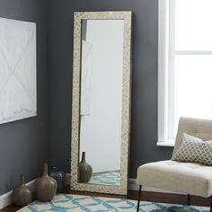 Parsons Floor Mirror - Metallic Patchwork