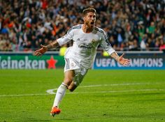 Ramos Amazing celebration after sending the match to extra time.