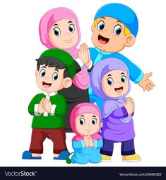 Illustration about Illustration of A group of muslim family are celebrating ied mubarak together. Illustration of islam, illustration, apologize - 144708237 Cartoon Kids, Girl Cartoon, Poster Ramadhan, Human Life Cycle, Ied Mubarak, Sarra Art, Sheep Vector, Eid Mubarak Vector, Eid Crafts