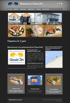 Poissonnerie Chouin'Art de Sainte-Flavie a créé son site Web avec Mon site Primo