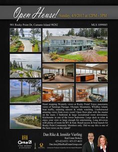 OPEN HOUSE!! Hi everyone!! We are inviting you to an Open House this Sunday, April 9, 2017 from 12PM-3PM at 901 Rocky Point Dr, Camano Island.   For inquiries, you may contact Dan Rike and Jennifer Vierling.  See you there!