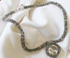 Black Diamond Swarovski Crystal Kumihimo by maryelizabethanne, $375.00