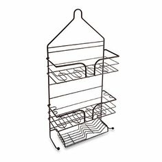 This Large Shower Caddy Has A Heavyweight Construction And An Attractive  Matte Bronze Finish. Its Two Roomy Shelves, Sloped Soap Tray, And Loops For  ...