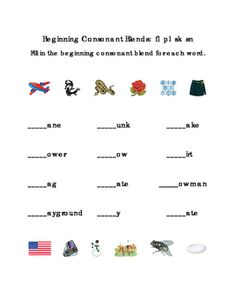 Kindergarten+Reading+Beginning+Consonants+Blends+Write+Fill-in+Letters+FL+PL+SK+SN.+Great+for+Tools+for+Common+Core,+Emergent+Reader,+ELA,+Balanced+Literacy,+Life+Skills.+Printable.+1+page.+