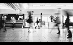 Terminal    #248/365 Was waiting to pick someone up so decided to do some long exposures. At f22 you really see all the dust in the sensor. I spent about 15 minutes playing with a color version..then in the end I thought I tried a b&w conversion. I liked the lightness it added so ended up going with that one. 3 day weekend for us here in the US! Have fun :)