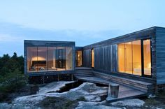 Summerhouse Inside Out Hvaler by Reiulf Ramstad Arkitekter Houses Architecture, Architecture Design, Scandinavian Architecture, Scandinavian Home, Residential Architecture, Architecture Interiors, Contemporary Architecture, Cabin Design, Modern House Design