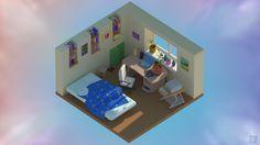 Small isometric room by InvPanda