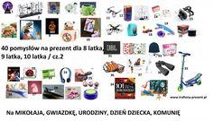 Kolejne 40 pomysłów na prezent dla 8-11 latka - Trafiony prezent