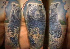 Only the best free Bear Tattoos For Men tattoo's you can find online! Bear Tattoos For Men tattoo's to print off and take to your tattoo artist. Classy Tattoos For Women, Best Tattoos For Women, Small Tattoos For Guys, Sleeve Tattoos For Women, Bear Tattoos, Animal Tattoos, Body Art Tattoos, Girl Tattoos, Tattoo Art