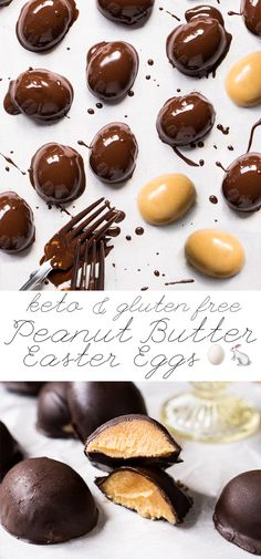 Keto Chocolate Peanut Butter Easter Eggs i. Keto Chocolate Peanut Butter Easter Eggs i. Stevia, Peanut Butter Eggs, Gluten Free Peanut Butter, Almond Butter, Low Carb Candy, Keto Candy, Lchf, Fat Bombs, Easter Recipes
