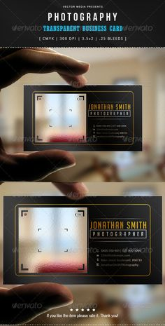 Photography - Transparent Business Card | Download: http://graphicriver.net/item/photography-transparent-business-card/7606176?WT.ac=category_thumbWT.z_author=VectorMediaref=ksioks