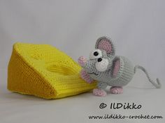 Amigurumi Crochet Pattern - Manfred the Mouse !!!This listing is for a crochet pattern and not a finished item!!! Manfred the Mouse: The pattern is very detailed and contains a lot of pictures. This is an instant digital download PDF pattern (ready to download immediatelly after the payment). More photos available on Facebook: https://www.facebook.com/IlDikko Or check out IlDikko website: http://ildikko-crochet.com Finished size: Manfred is approximately 11 cm by 8 cm, the cheese is 15 cm...