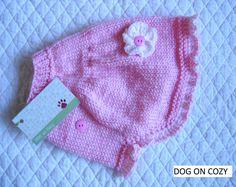 Svasata cane maglione, mano maglia Roto per Pet, dimensione piccola, maglia del capo rosa