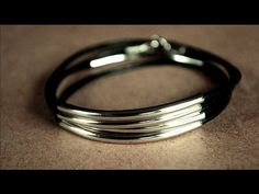 DIY Silver Tube Wrap Bracelet - YouTube