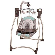 Graco Lovin' Hug Plug-In Infant Swing - Capri.... learned my lesson with JM - a swing is a must have.