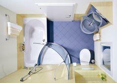 Még a legkisebb fürdőszobát is át lehet alakítani úgy, hogy hangulatos és barátságos legyen. Csak ki kell választani a megfelelő belső rendezést és a teret praktikusan ki kell használni. A mokavilag.com összegyűjtötte az Ön számára a legsikeresebb példáit, hogyan tehetünk be egy kis fürdőszobába minden lényeges dolgot. Az üveg ajtó növeli a fényt és a vizuális teret   Egy terjedelmes zuhanyzót helyettesíteni lehet a szoba sarkában  Helytakarékos sarokkád  Válassz egy világos, mutatós színt…
