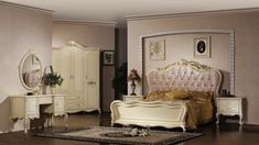 color-bedroom-adult-furniture-baroque Baroque model room: luxurious and stuffed with character Bedroom stuffed model luxurious character baroque Baroque Furniture, White Furniture, Bedroom Furniture, Bedroom Decor, Bedroom Ideas, French Provincial Bedroom, French Provincial Furniture, Baroque Bedroom, Master Suite