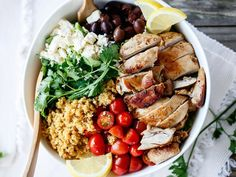 Balsamic Chicken Salad Bowls from 11 Quinoa Bowls that Make it Easy to Eat Clean (#MindBodyGreen)