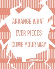 Awesome. Virginia Woolf Quote Poster by MadeByManitas on Etsy, $12.00