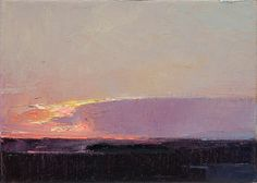 "Winter 12/21/08 - Oil on Canvas 5"" x 7"" – Rich Bowman | Blue Gallery"