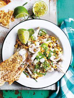 Chicken And Corn Nachos With Jalapeno Yoghurt | Donna Hay