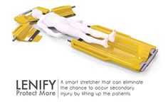 Lenify is a collapsible emergency stretcher that eliminates the possibility of secondary injury to occur when lifting up the patient onto the stretcher.