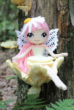 PATTERN: Althaena the Summer Fairy Crochet Amigurumi by epickawaii