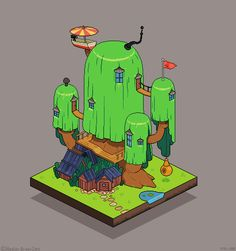 isometric tree house - Google Search