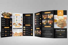 this is food menu bifold-trifold brochure design was creat.eak house, pizza house, coffee house brochure catalog etc. Pizza Menu Design, Cafe Menu Design, Food Menu Design, Brochure Food, Brochure Design, Brochure Trifold, Brochure Ideas, Brochure Template, Flyer Design