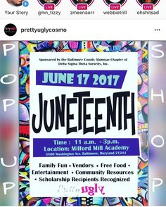 """I need everybody to pull up at Milford Mill Academy this Saturday and stop by the @prettyuglycosmo booth! #june17th #prettyuglycosmo #lipstick #lipservice #cosmetics #support #millfordmill #juneteenth #community #baltimore #events #baltimoreevents #dmvevents"" by @officialbrickgod. #이벤트 #show #parties #entertainment #catering #travelling #traveler #tourism #travelingram #igtravel #europe #traveller #travelblog #tourist #travelblogger #traveltheworld #roadtrip #instatraveling #instapassport…"