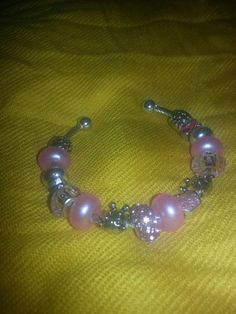 Breast Cancer Cuff European Charm Bracelets  2 FOR 35 by DopeHause, $35.00