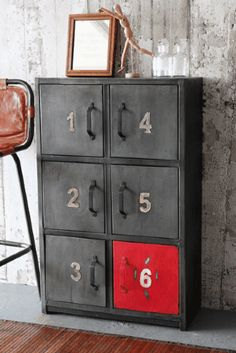 Industrial 1,2,3,4,5,6 Door Metal Cabinet