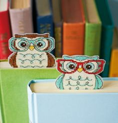 CrossStitch Owl Bookmark #CrossStitch #Owl #Bookmark #glasses