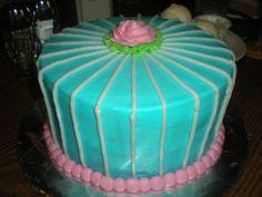 Turquoise Rose Cake