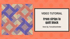 Learn to make 2 blocks out of 4 strips of fabric. This is an easy beginner block. You only need 4 strips of fabric measuring 2 1/2 inch x 68 inch sewn togeth...