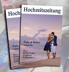 Hochzeitszeitung wie Magazin