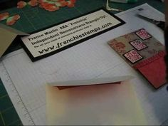 Lots of videos for card making/scrapbooking ideas