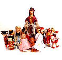 Vintage Doll Lot, Souvenir / Ethnic Dolls, Collect or Re-Purpose